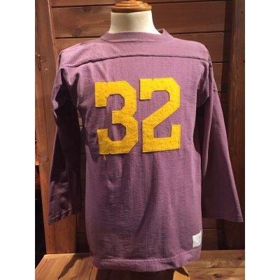 画像1: FULL COUNTフルカウント OLD FOOTBALL TEE フットボールシャツ