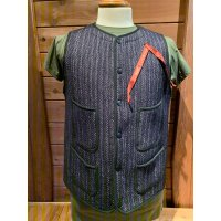 BROWN'S BEACH EARLY VEST ブラウンズビーチ ベスト NAVY STRIPE